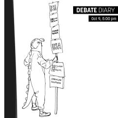 Drawing from the Debate Fair. Artist: Kat Bourek