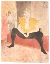 "Henri de Toulouse-Lautrec (French, 1864–1901), ""La clownesse assise (Mademoiselle CHA-U-KA-O) (The Seated Clown [Mademoiselle CHA-U-KA-O]),"" from the portfolio ""Elles,"" 1896. Lithograph, 20 7/16 x 15 15/16"". Saint Louis Art Museum, Given Anonymously, 34:1991."