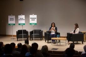 speaker at impact investing event