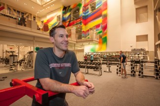 Bryan Lenz is the university's first director of recreational sports and campus fitness. (Joe Angeles/Washington University)