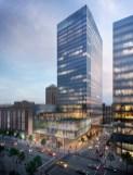 Conceptual rendering, Building C, Centene Centre, Clayton, Mo. (Image: HOK)