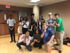College Prep students pose for a fun photo