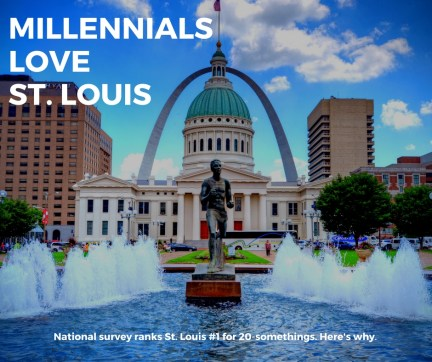 """On July 31, Business Insider highlighted a survey that ranked St. Louis No. 1 on its list of the """"top 25 coolest and most affordable cities for millennials."""" Click through to see some of the reasons why. And click here to see the original survey on the Penny Hoarder website. (Photo: James Byard/Washington University)"""