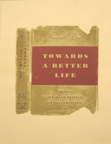 "R. B. Kitaj, ""Towards a Better Life, from the portfolio ""In Our Time: Covers for a Small Library after the Life for the Most Part,"" 1969. Screen print, 30 1/2 x 22 3/4"". Mildred Lane Kemper Art Museum, Washington University in St. Louis. Gift of Alvin Haimes, 1979."