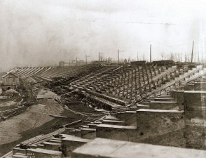 The Olympic Stadium under construction. (Photo: Courtesy of Missouri Historical Society)