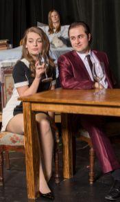 Carly Rosenbaum as Mindy and Marek Rodriguez as Raimondo. (Photo: Joe Angeles/Washington University)