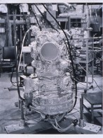 "Catherine Wagner (American, b. 1953), Ultra High Vacuum Chamber, 1992. Gelatin silver print, 38 1/2 x 29 7/8"". Mildred Lane Kemper Art Museum, Washington University in St. Louis. University purchase, Charles H. Yalem Art Fund, 1996."
