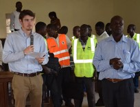 Delaney hosted an opening ceremony attended by local dignitaries and boda-boda drivers. The training he established with the drivers continues in the Ugandan town. (Courtesy photo)