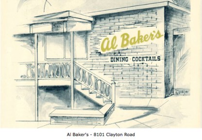 Al Baker's on Clayton Road (Courtesy Lost Tables)