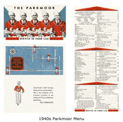The Parkmoor Menu (Courtesy of Lost Tables)