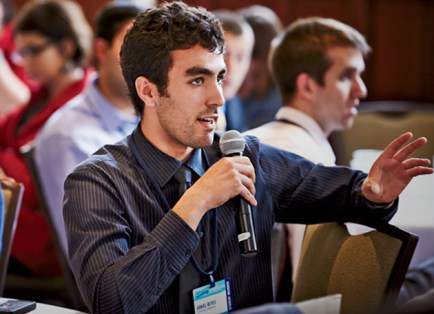 Some 1,200 CGI U students, including 200 from WUSTL, enjoyed a weekend of inspiration and participation. (Mark Katzman)