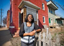 De Andrea Nichols, a master of social work student at the Brown School, is the founder of D*Serve, which aims to inspire youth to become design-based entrepreneurs in efforts to revitalize their community. (James Byard)
