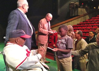 Former players from the Negro Leagues hosted three post-show discussions in conjunction with performances of Jackie and Me. (Courtesy photo)