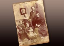 Agnes Laughton (right), the missionary's wife who wrote the previous letter to Sachtleben's sister, was photographed with her family by Sachtleben. (Courtesy of Catherine Rehart, a grandniece of the Laughtons)
