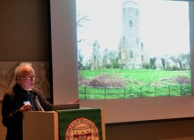 "During the Classes Without Quizzes event, Dean Spector gave a presentation titled ""Wide Screen Art: The Panoramic Affect in New Mediums and Old."" (Dawn Villella)"