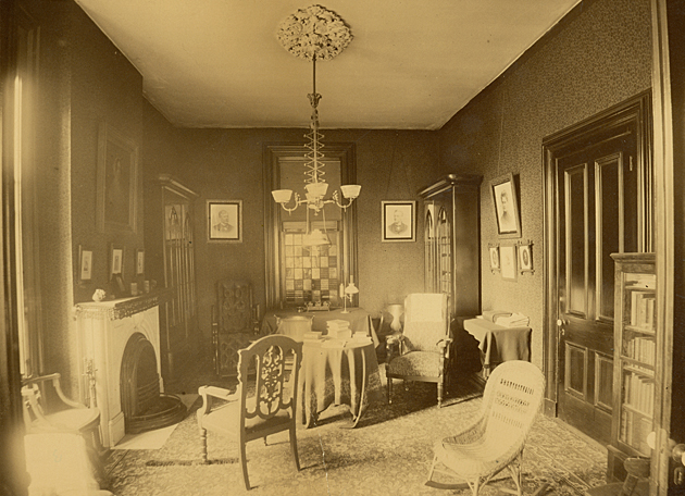 Pictured is William Greenleaf Eliot's study in his St. Louis home. (WU Archives)
