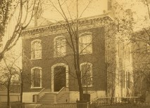 In 1834, Rev. William Greenleaf Eliot arrived in St. Louis, a frontier town of 7,000, ready to found a church and help civilize the West. Pictured is his St. Louis home. (WU Archives)