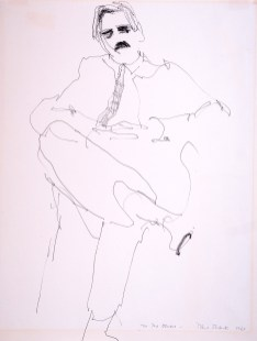 A portrait of Arthur Osver by Paul Shank. Ink on paper, 1963. (Photo: Courtesy of Paul Shank)