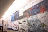 Student design boards in Givens Hall. (Photo: Carol Green/Washington University)
