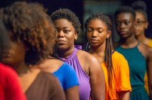 "The cast of ""for colored girls who have considered suicide."""