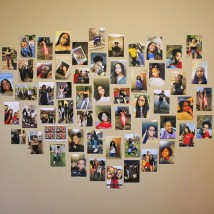 "Barnes also created a collage of photos of her family, friends from her hometown of North Little Rock, Ark., and first-year floormates. ""It makes me feel a little less homesick to have it here,"" Barnes said."