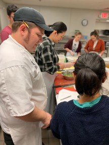 student cooking class