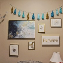 Pasquarello found many of her accent pieces at HomeGoods, Walmart and Etsy. She won best overall room, with a prize of a $500 housing credit.