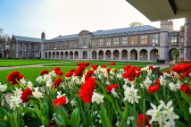 Ridgely Hall in the spring