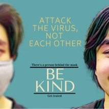 Student Kya Vaughn created a series of posters aimed at destigmatizing the virus.