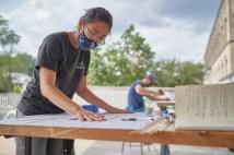 graduate architecture students work