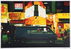 "Noel Mahaffey, ""Night—Times Square,"" from the portfolio ""City-Scapes,"" 1979. Screen print. Mildred Lane Kemper Art Museum."