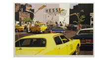 "Ron Kleeman, ""Gas Line,"" from the portfolio ""City-Scapes,"" 1979. Screen print. Mildred Lane Kemper Art Museum."