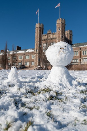 snowman by Brookings Hall