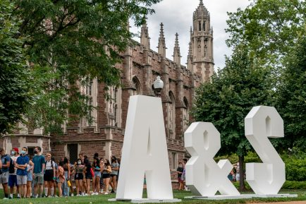 Over 1,350 Arts & Sciences students attended an orientation and welcome event Aug. 23 on the Danforth Campus. (Photo: Whitney Curtis/Washington University)