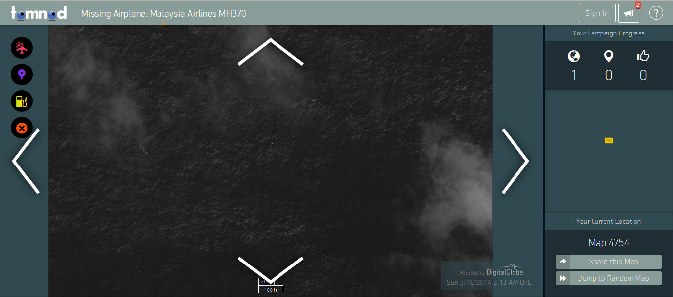 Search Online For Missing Malaysia Airlines Flight MH370 Through Tomnod Staellite Images