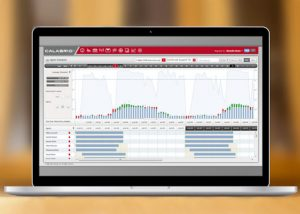calabrio workforce management optimization laptop user interface