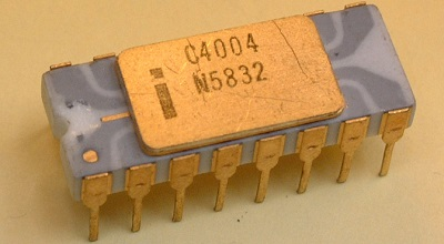 The Intel 4004 microprocessor - Image taken from ExtremeTech.