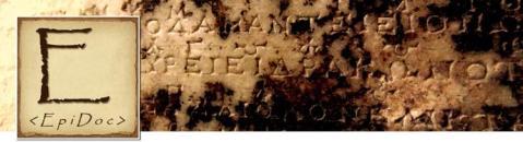 EpiDoc: Ancient Documents in XML