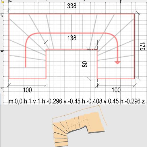 Sweet Home 3D 3D Models 414 Staircase U Shape | Staircase Sweet Home 3D | Floor Plan | Sh3D | 3D Model | Eteks | Software