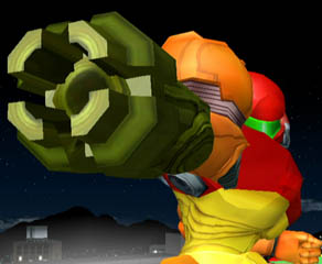 Of course when Samus fires missiles, her Arm Cannon opens up.