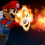 Mario's fiery fighting spirit!