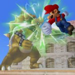 A massive blow from Mario! It's a new move.