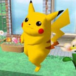Pikachu. Is that a...Fire Flower?