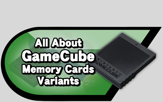 gameCube Memory Cards