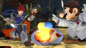 Dr. Mario and Roy in Super Smash Bros. for Wii U