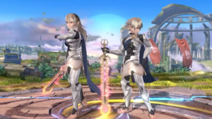 Corrin and Corrin in Super Smash Bros. for Wii U