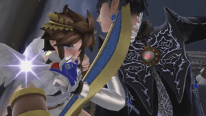 Bayonetta and Pit in Super Smash Bros. for Wii U
