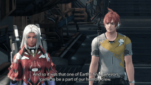 Elma and Cross in Xenoblade Chronicles X