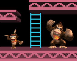 Donkey Kong and Diddy Kong in Super Smash Bros. Brawl