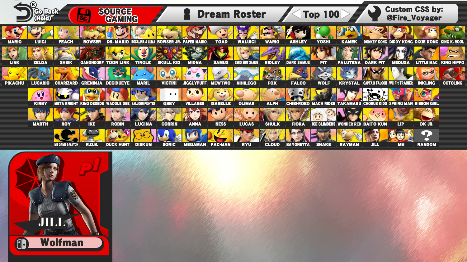 Dream Roster Smash Bros With 100 Fighters Source Gaming